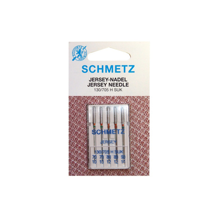 SCHMETZ 130//705H-SUK Jersey Ball Point Home Sewing Machine Needles 5 Pack